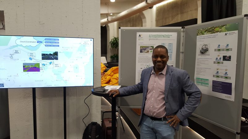 Edward Mutafungwa, Aalto University has presented 5G-MOBIX during the 5GTNF result seminar on 01.11.2019 at Aalto University in Espoo.