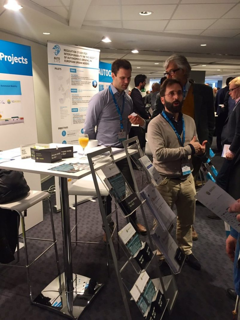 EUCAD conference exhibition area was a busy moment for the projects with a lot of interest from the audience