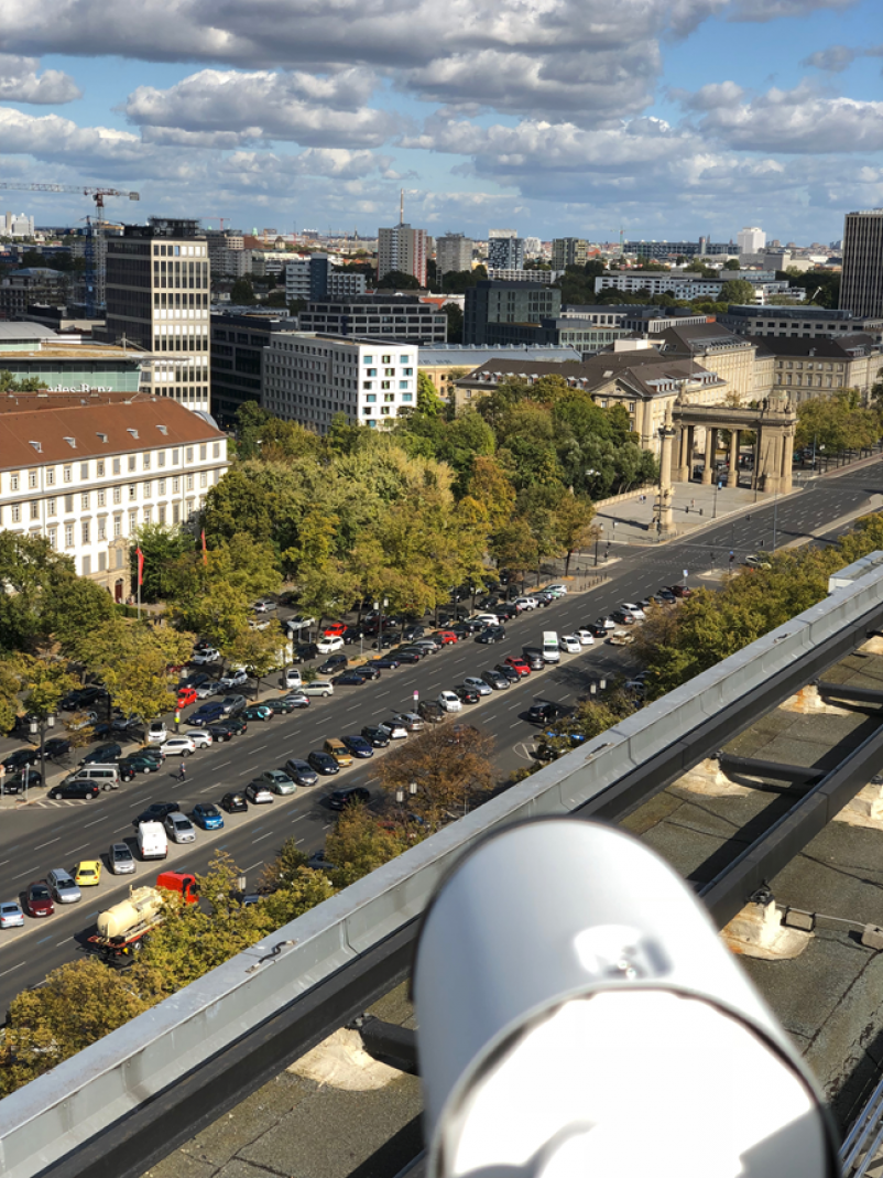 17. Juni street in Berlin, where 5G will improve the data exchange between autonomous cars and stationary sensors.