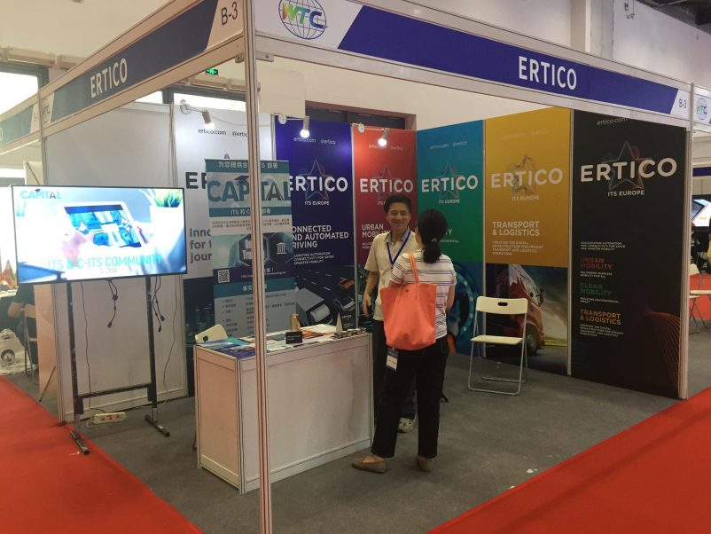 5G-MOBIX leaflets and video were also shown and distributed at the ERTICO - ITS Europe stand in the exhibition area.