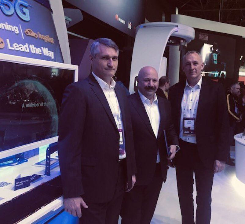 Jacob Bangsgaard, CEO @ ERTICO, Kaan Terzioglu, CEO @ Turkcell and Francois Fischer, 5G-MOBIX project coordinator and ERTICO expert, met on the Turkcell stand to discuss further cooperation opportunities and the importance of 5G-MOBIX for future 5G deployment.