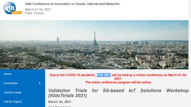 ICIN 2021 - Validation Trials for 5G-based IoT Solutions Workshop