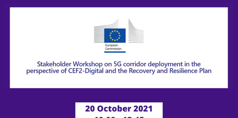 Stakeholder Workshop on 5G corridor deployment in the perspective of CEF2-Digital and the Recovery and Resilience Plan