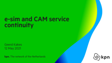IEEE 5G for CAM Virtual Summit - e-sim and CAM service continuity