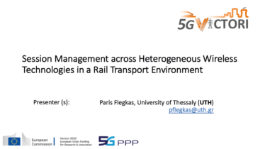 IEEE 5G for CAM Virtual Summit - Session Management across Heterogeneous Wireless Technologies in a Rail Transport Environment