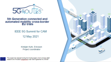 IEEE 5G for CAM Virtual Summit - 5th Generation connected and  automated mobility cross-border  EU trials