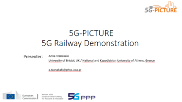 IEEE 5G for CAM Virtual Summit - 5G-PICTURE 5G Railway Demonstration