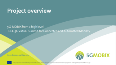 IEEE 5G for CAM Virtual Summit - 5G-MOBIX from a high level