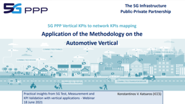 Practical insights from 5G Test, Measurement and KPI Validation with vertical applications