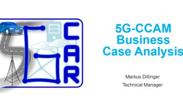 IEEE 5G for CAM Virtual Summit -  5G-CCAM BusinessCase Analysis