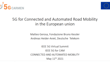 IEEE 5G for CAM Virtual Summit - 5G for Connected and Automated Road Mobility in the European union