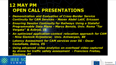 IEEE 5G for CAM Virtual Summit -12 MAY PM OPEN CALL PRESENTATIONS