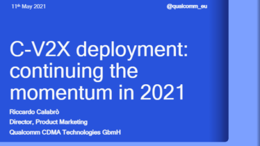 IEEE 5G for CAM Virtual Summit -C-V2X deployment: continuing the momentum in 2021