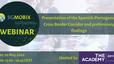 5G-MOBIX: Presentation of the ES – PT Cross Border Corridor. A Webinar hosted by the ERTICO Academy